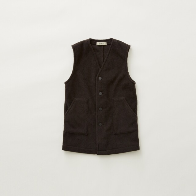 【eLfinFolk】8月入荷予定 Fleece long vest  black