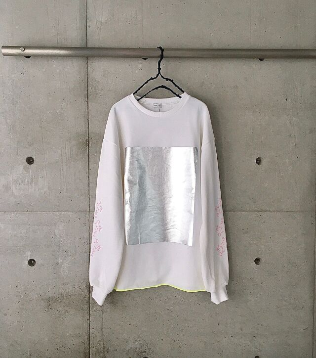 【frankygrow】stitchhouse21st limited SQUARE HOIL SWEAT SHIRTS/WHITE