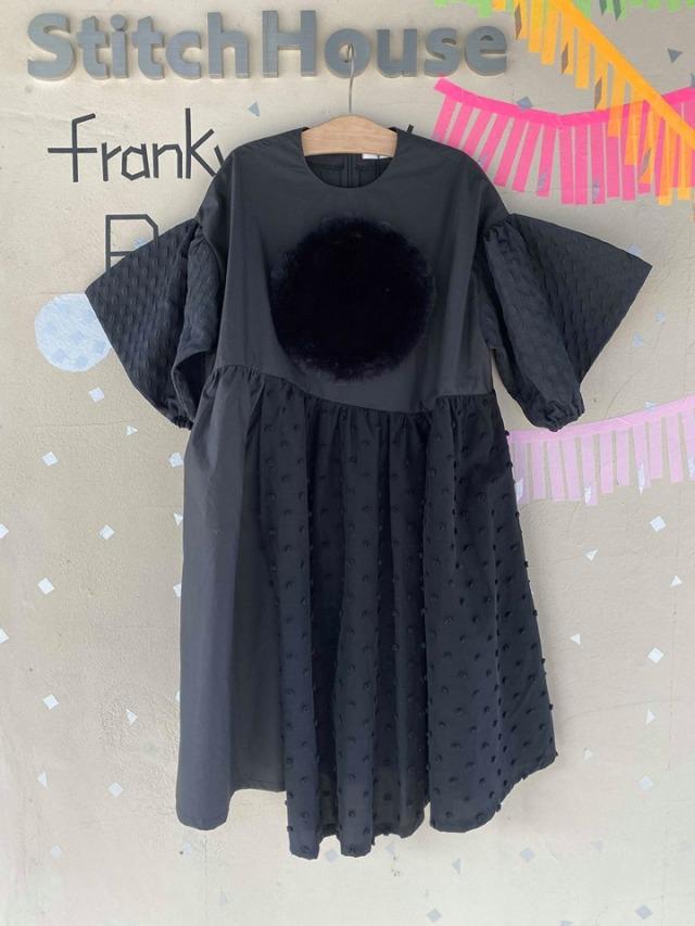 【frankygrow】19FWOP-146/BOA CIRCLE DM MONOCHROME DRESS