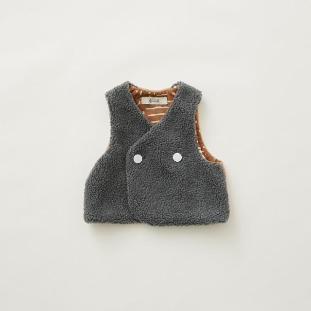 【eLfinFolk】8月入荷予定Sheep boa  baby vest gray