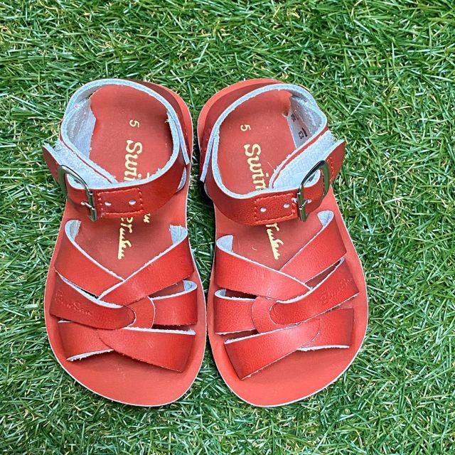 【Salt Water Sandals(ソルトウォーターサンダル)】Sun San swimmer(ベルクロ)/Red赤/13.3cm~22.4cm
