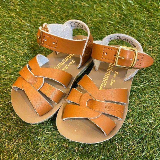 【Salt Water Sandals(ソルトウォーターサンダル)】Sun San swimmer(ベルクロ)/tan茶/13.3cm~22.4cm