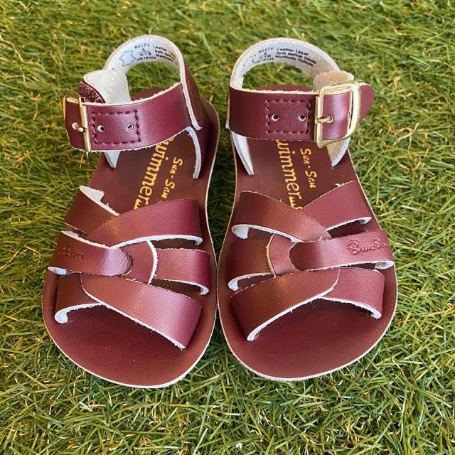 【Salt Water Sandals(ソルトウォーターサンダル)】Sun San swimmer(ベルクロ)/Claret/13.3cm~22.4cm