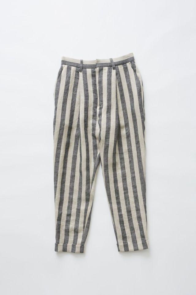 【eLfinFolk】elf-191F55 stripe linen pants