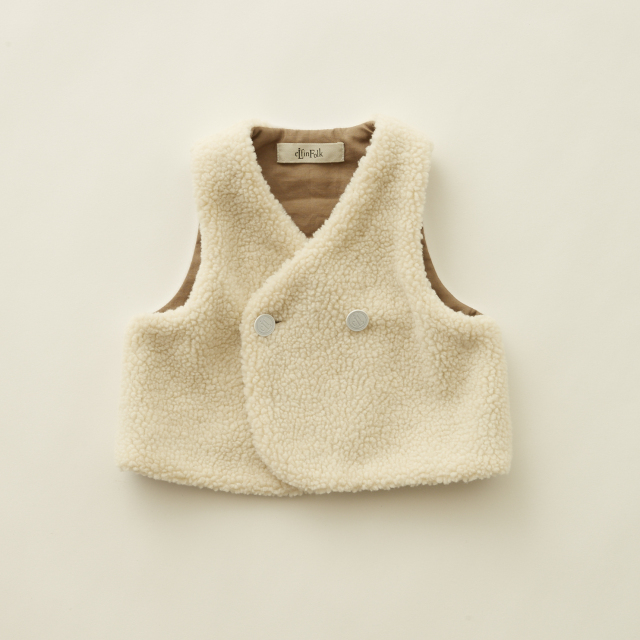 【eLfinFolk】elf-202F46 sheep boa  baby vest