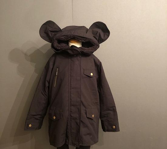 【arkakama】AKO00017 MOUSE COAT BLACK