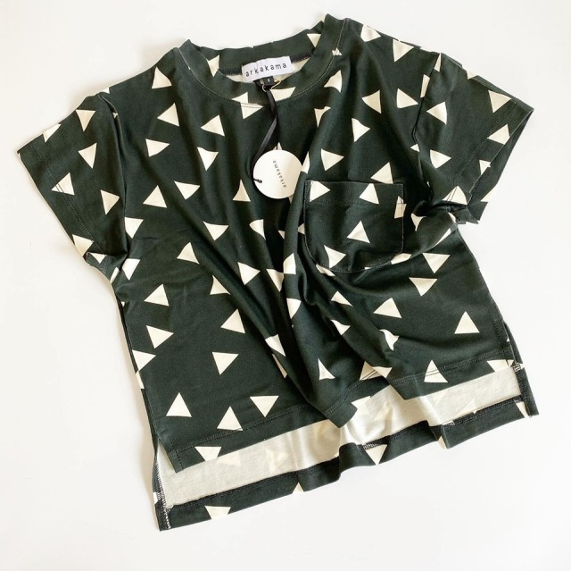 【arkakama】AKT00055/RAYON SPDX WIDE Tee/▲ Triangle