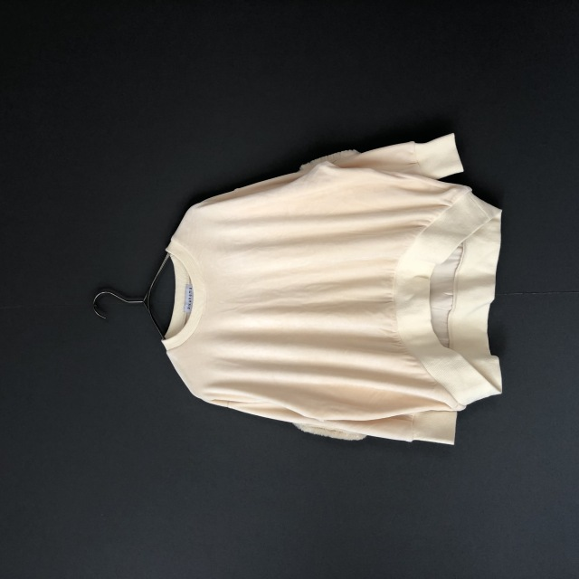 【arkakama】AKT00502 ROUND  Velour Sweatshirt IVORY 大人のみ