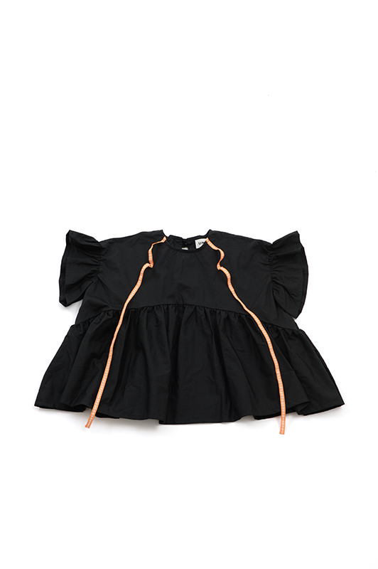 【UNIONINI】BL-003/ribbon blouse/black