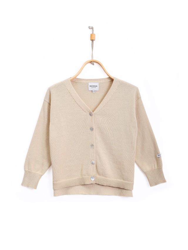 【DONSJE】Finn Cardigan Oatmeal Cotton