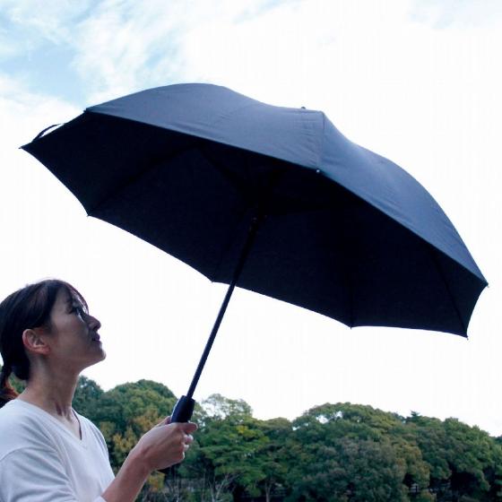 【SPICE OF LIFE】 ファンファンパラソル 扇風機付き日傘 ブラック 60cm