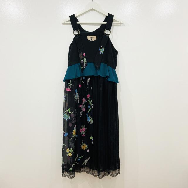 【JI'NE】JN2S-OP06 Cloudflowerドレス ブラック