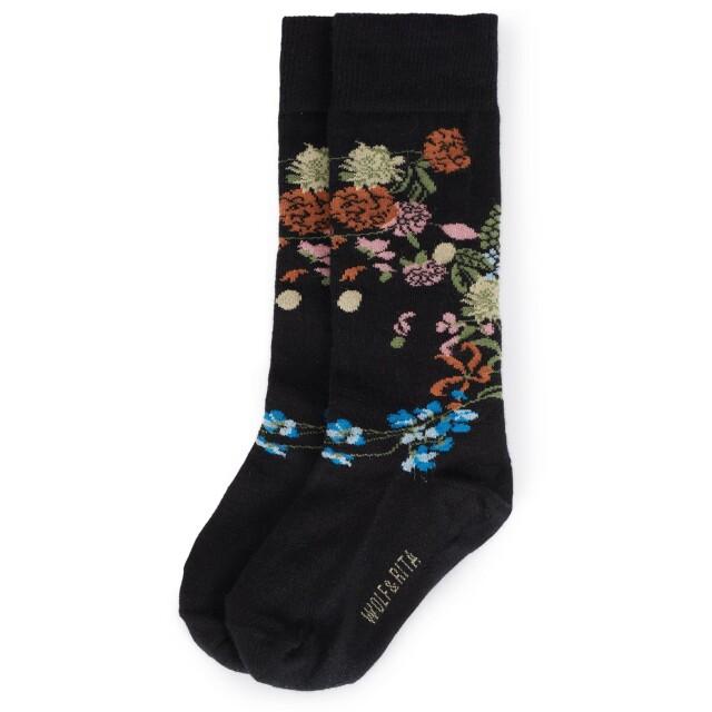 【WOLF & RITA】LONG SOCKS FLOWERS