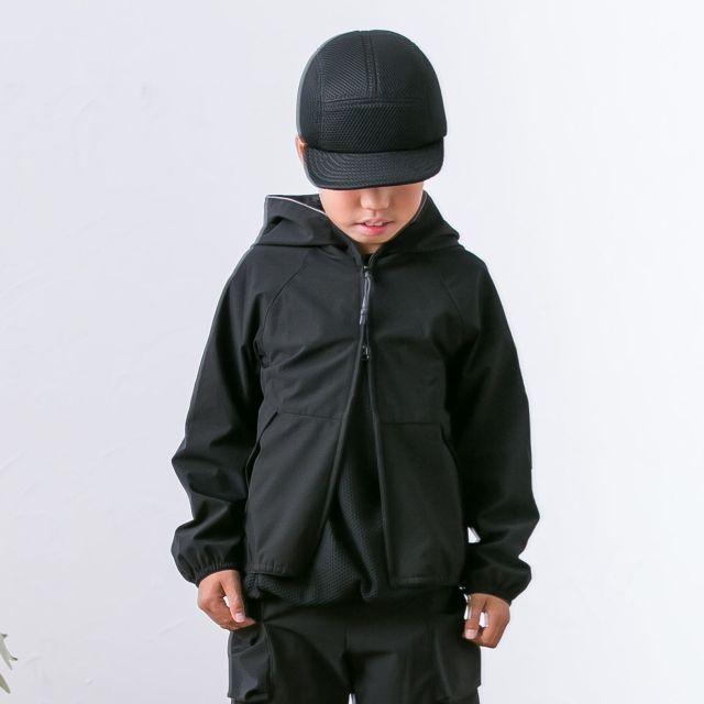 【MOUNTEN.】MT191019 ripstretch hoodie/150-160と大人
