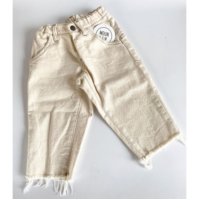 【MOUNTEN.】MT201011-a widecropped denim キッズ95 110 125 140