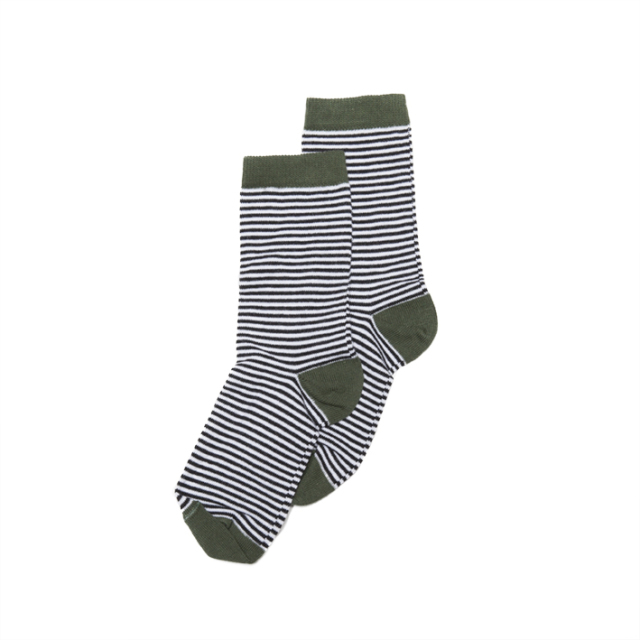【MINGO.】 MI1800747A2/ Socks/ Striped*duck green