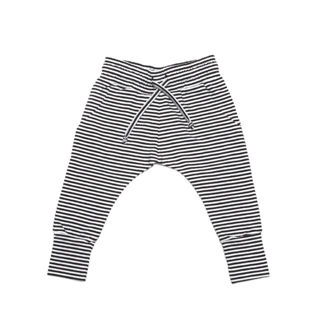 【MINGO.】MI1800073A1  Slim fit jogger  B/W stripes
