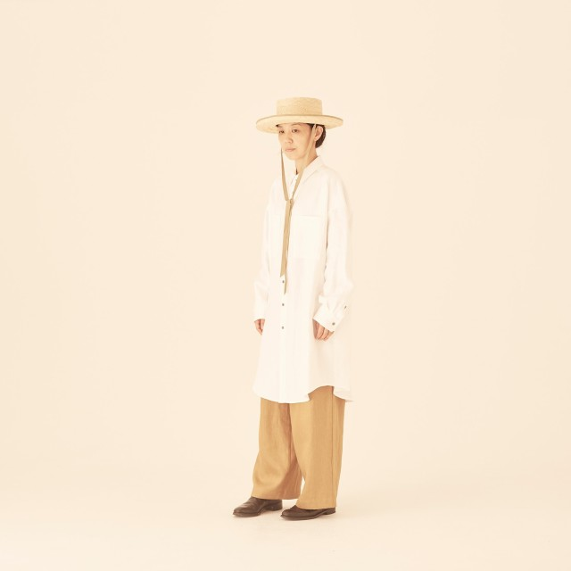 【eLfinFolk】elf-201F63 big silhouette  linen shirts