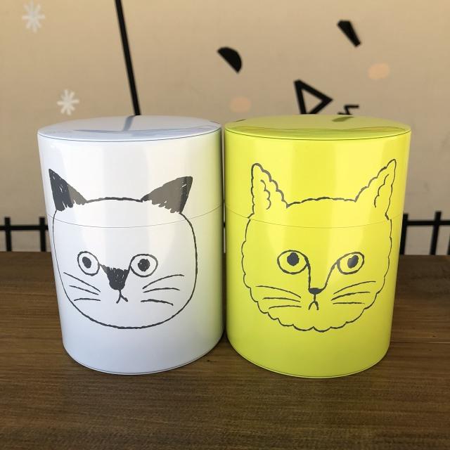 【松尾ミユキ】コーヒー保存缶 CAT FACE