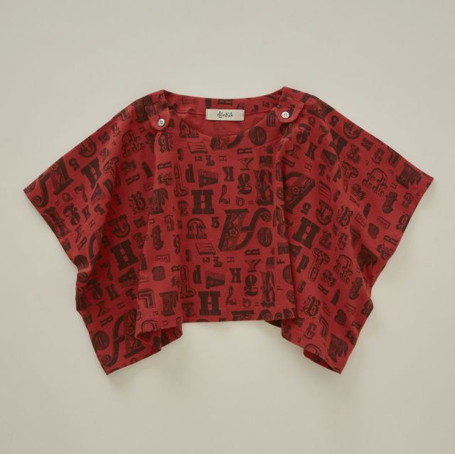 【eLfinFolk】alphabetic print  tops