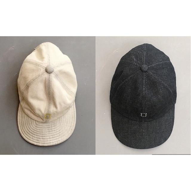 【frankygrow】21SBB-227 EMBROIDERY BEAR DENIM CAP