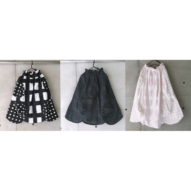 【frankygrow】21SBT-237 ORIG. CHECK MIX SKIRT