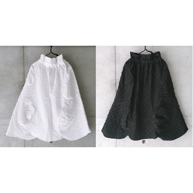【frankygrow】21SBT-244 BONBON CUT JQ WAVE HEM SKIRT