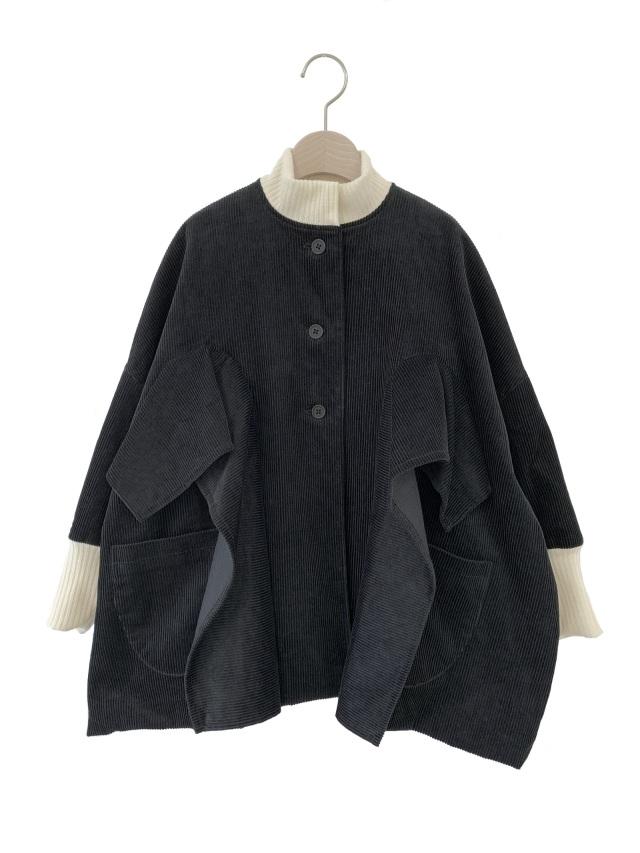【UNIONINI】CO-021 corduroy coat おとな(S/M) BLACK