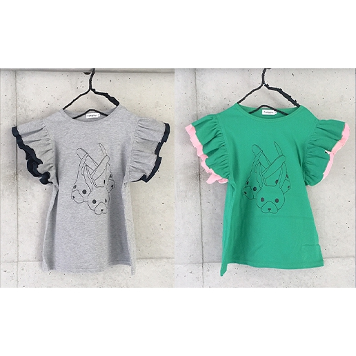 【frankygrow】21SCS-380 DOUBLE FRILL RABBIT TEE