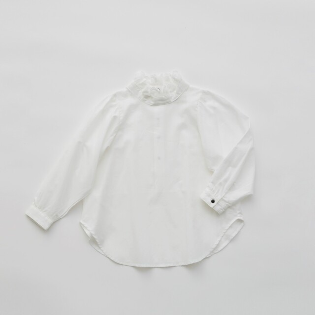 【eLfinFolk】ご予約会・23日23時までelf-111F17 Ruffled collar  blouse