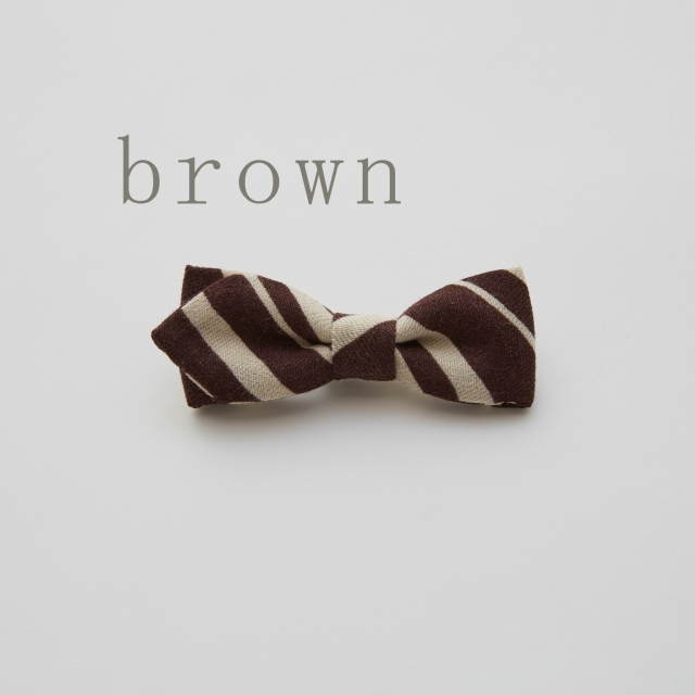 【eLfinFolk】ご予約会・23日23時までelf-111A20-b Angled stripe  bow tie