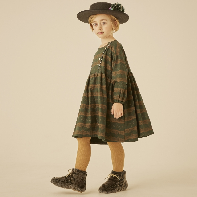 【eLfinFolk】elf-202F04 castle printed dress