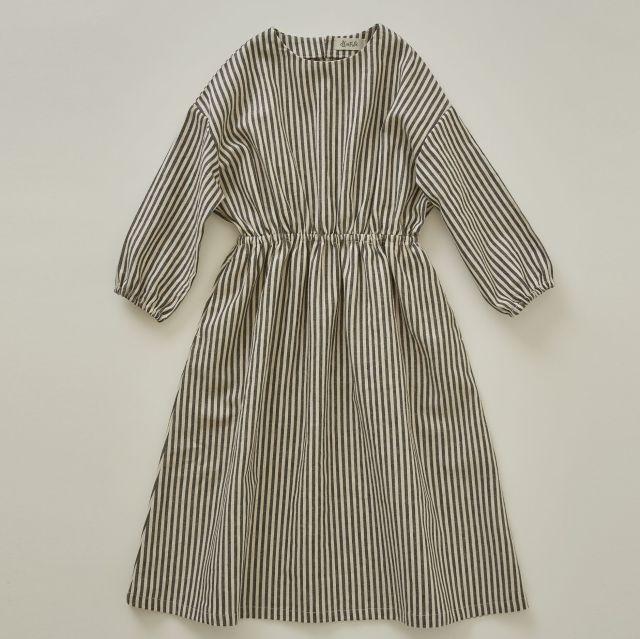 【eLfinFolk】stripe linen dress