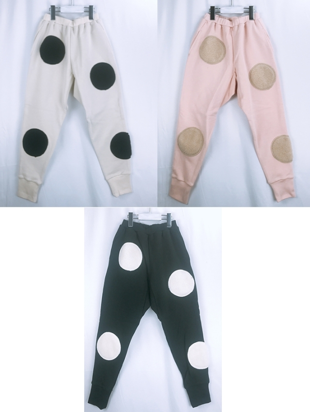 【frankygrow】20FWBT-226 UNEVEN BOA DOTS SWEAT PANTS/キッズから大人まで