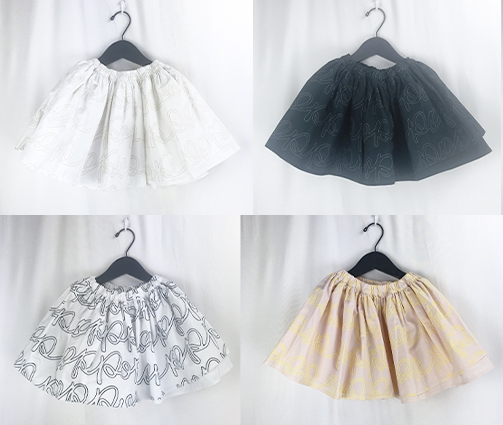 【frankygrow】20FWBT-231HD AIRY SKIRT/キッズから大人まで