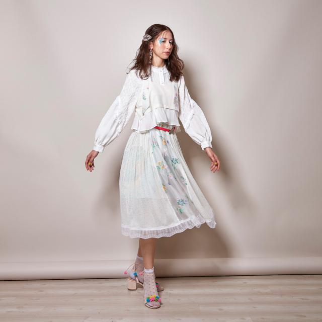【JI'NE】JN2S-OP06 Cloudflowerドレス ホワイト