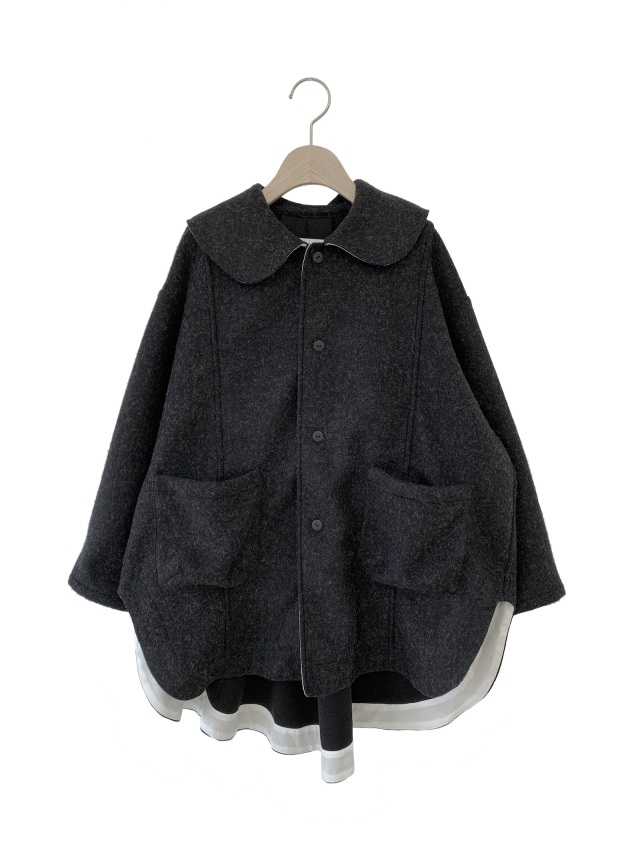 【UNIONINI】JK-003 melton knit coat おとな(S/M) BLACK