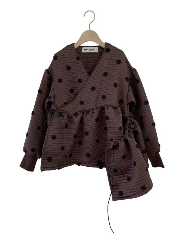【UNIONINI】JK-004 metelasse chech-coeur jacket おとな(S/M)brown