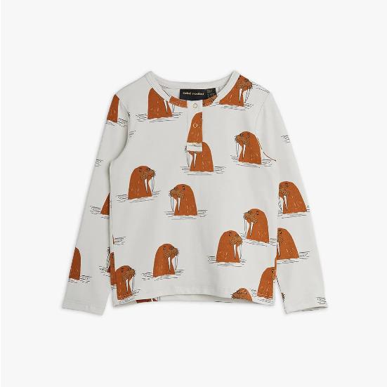 【mini rodini】Walrus Grandpa Shirt