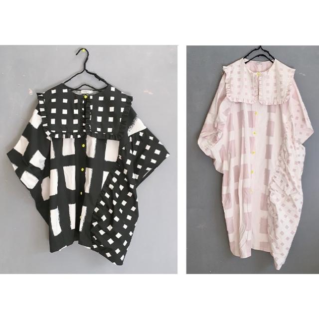 【frankygrow】21SOP-168 ORIG. CHECK MIX PENTAGON DRESS SHIRT