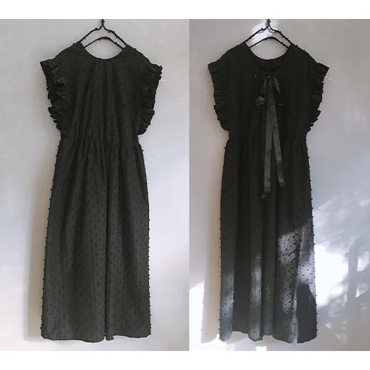 【frankygrow】21SOP-174 BONBON CUT JQ BACK SHAN DRESS