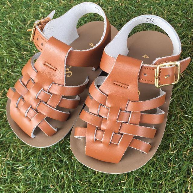 【Salt Water Sandals(ソルトウォーターサンダル)】ベビー・Sailor/Tan茶色