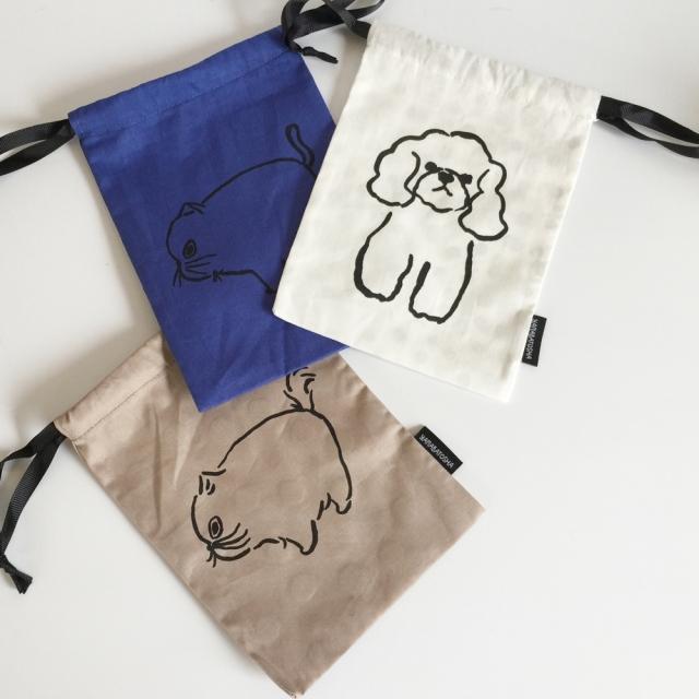 【山鳩舎】drawstring bag S