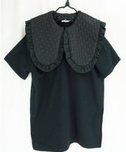 【frankygrow】20SCS-348 REMOVABLE BIG COLLAR TEE DOTS MT BLACKおとな