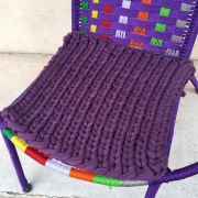 【Stitch House Original】Tシャツリサイクル糸で編んだ座布団