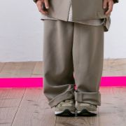 【MOUNTEN.】polyester canapa widepants