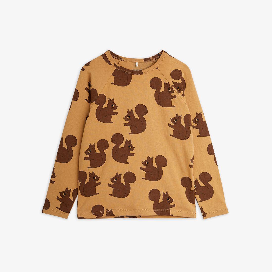 【mini rodini】 Squirrel Long Sleeve T-shirt
