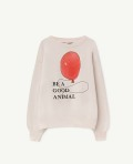 【THE ANIMALS OBSERVATORY】000983_169_NK White Bear Sweatshirt