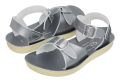 【Salt Water Sandals(ソルトウォーターサンダル)】Sun San surferPremium(ベルクロ)/Pewterメタリックシルバー/13.3cm~22.4cm
