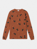 【BOBOCHOSES】219907 All Over Flags Buttoned Long Sleeve T-Shirt/大人